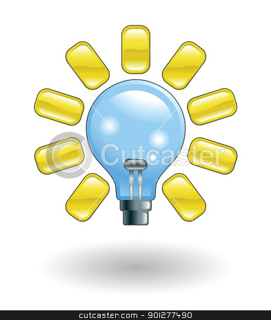 lightbulb Illustration stock vector clipart, Illustration of a lightbulb by Christos Georghiou