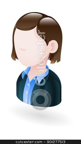 businesswoman illustration stock vector clipart, Illustration of a businesswoman by Christos Georghiou