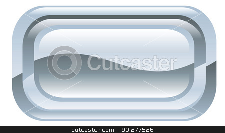 button illustration stock vector clipart, Illustration of a shiny silver button by Christos Georghiou