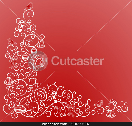 christmas corner pattern stock vector clipart, A vector illustration of a Christmas pattern  by Christos Georghiou