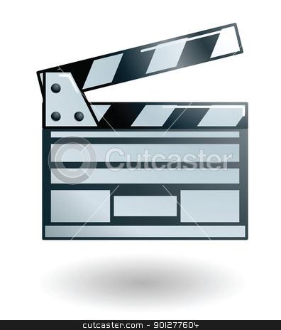 clapper board Illustration stock vector clipart, Illustration of movie clapperboard by Christos Georghiou