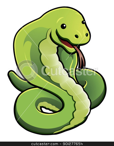 Cute cobra snake stock vector clipart, An illustration of a cute cobra snake    by Christos Georghiou
