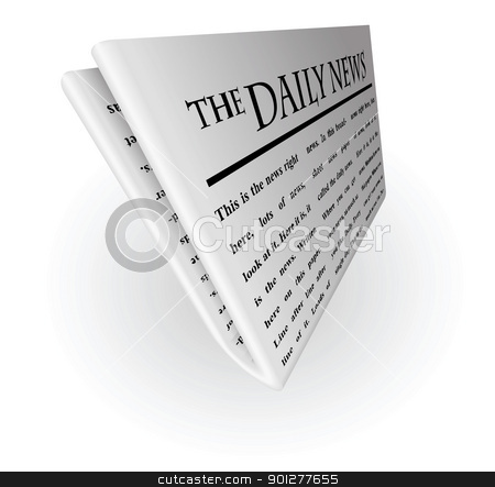 daily news stock vector clipart, Illustration of a newspaper by Christos Georghiou