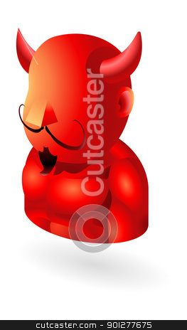 devil icon stock vector clipart, Illustration of the devil by Christos Georghiou