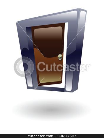 door opening  Illustration stock vector clipart, Illustration of a door opening by Christos Georghiou