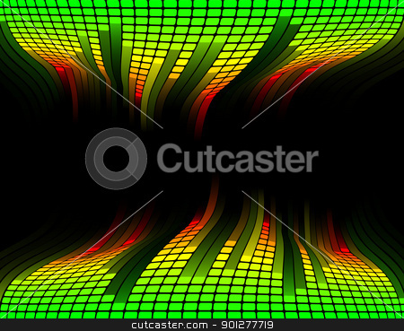 Equalizer music background stock vector clipart, Abstract equaliser music sound background with copyspace in the centre by Christos Georghiou