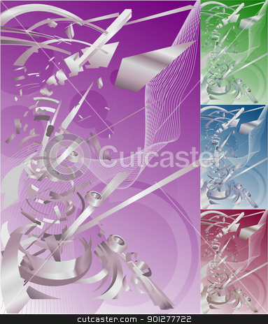 futuristic exploding technology background stock vector clipart, Conceptual abstract funky futuristic exploding technology background. No meshes used.  by Christos Georghiou