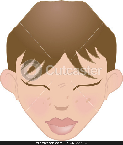 face illustration stock vector clipart, An illustration of a human face, no meshes used  by Christos Georghiou