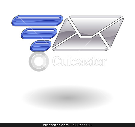 fast email Illustration stock vector clipart, Illustration of fast mail by Christos Georghiou