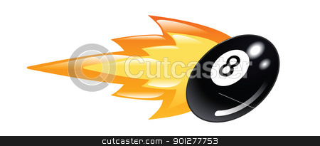flaming 8 ball stock vector clipart, Illustration of a flaming eight ball by Christos Georghiou