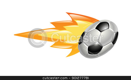 flaming soccer ball stock vector clipart, Illustration of a flaming soccer ball by Christos Georghiou