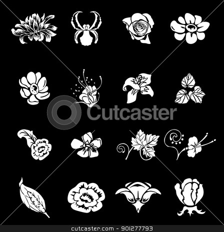 floral design elements stock vector clipart, Floral icon design elements for your compositions!  by Christos Georghiou