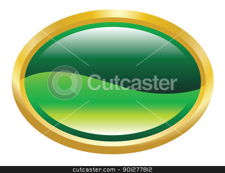 frame illustration stock vector clipart, Illustration of a green and gold frame by Christos Georghiou