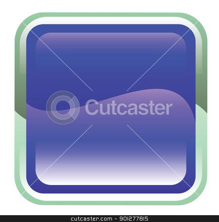 frame illustration stock vector clipart, Illustration of a blue frame by Christos Georghiou