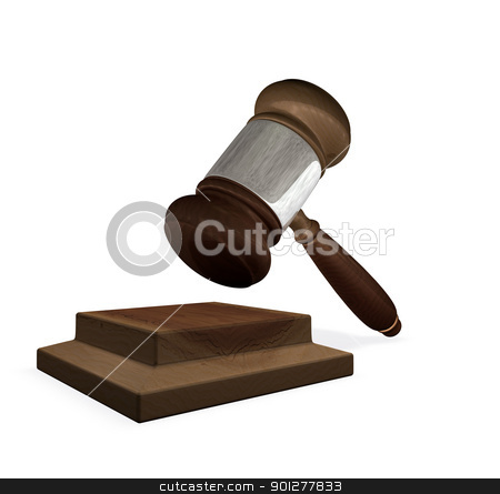 3d render magistrates gavel and block  stock photo, 3d render of a gavel and block illustration representing the legal system by Christos Georghiou