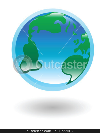 globe Illustration stock vector clipart, Illustration of a world globe by Christos Georghiou