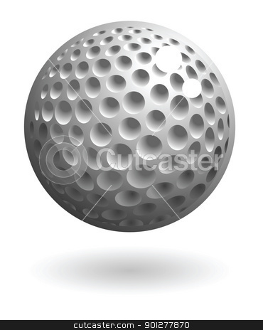 golfball Illustration stock vector clipart, Illustration of a golf ball by Christos Georghiou