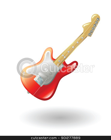 guitar Illustration stock vector clipart, Illustration of an electric guitar by Christos Georghiou