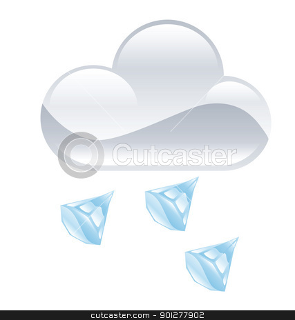 hail illustration stock vector clipart, Illustration of cloud and hail by Christos Georghiou