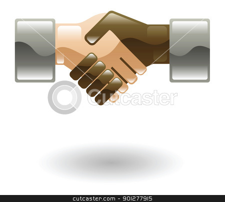handshake stock vector clipart, Illustration of multi-ethnic handshake by Christos Georghiou