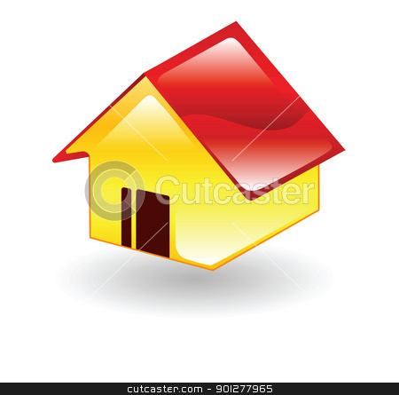 house stock vector clipart, Illustration of a house by Christos Georghiou
