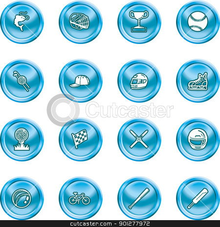 Sports Icons stock vector clipart, A set of sports icons / design elements.  by Christos Georghiou