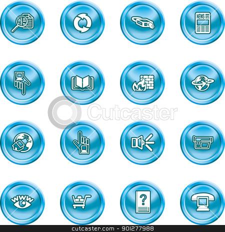Computing Icon Set stock vector clipart, Internet or Computing Icon Set.  by Christos Georghiou