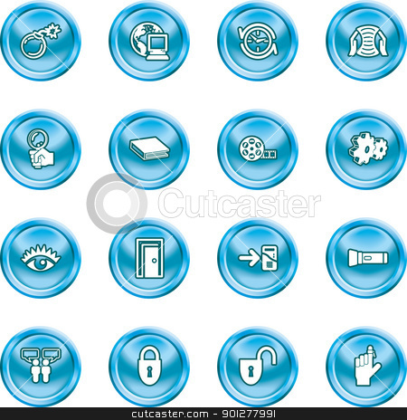 computer and internet icons icons stock vector clipart, A set of computer and internet icons  by Christos Georghiou