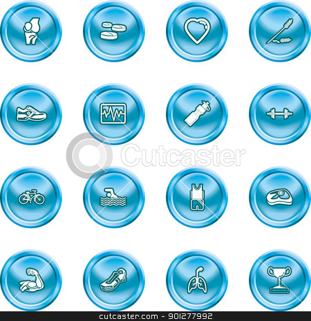 health and fitness icons stock vector clipart, icons or design elements relating to health and fitness  by Christos Georghiou