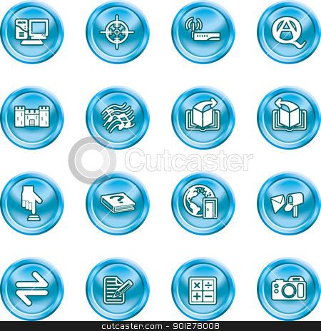 Internet or Computing Icon Set stock vector clipart, Internet or Computing Icon Set. by Christos Georghiou
