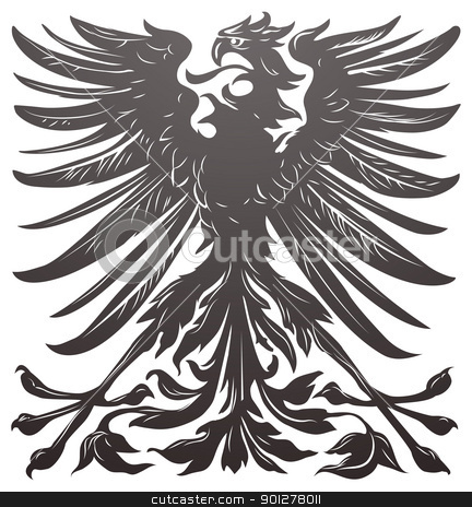 Imperial eagle design element stock vector clipart, Imperial eagle most resembling that used on the coat of arms of the German empire in the late 19th century. by Christos Georghiou