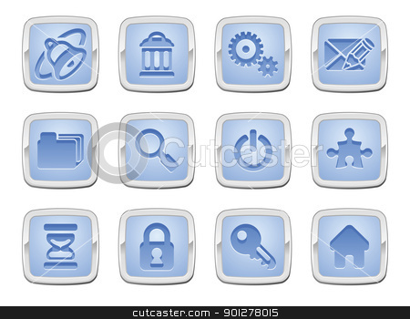 internet icon set stock vector clipart, illustration of an internet icon set series by Christos Georghiou