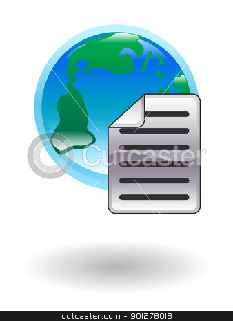 internet document Illustration stock vector clipart, Illustration of an internet document by Christos Georghiou