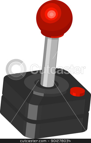Joystick stock vector clipart,  Illustration of a classic gamers joystick  by Christos Georghiou