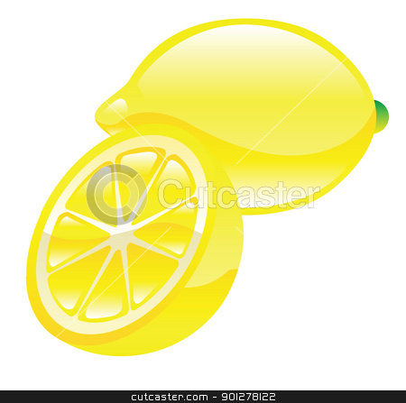 lemon illustration stock vector clipart, Illustration of lemons by Christos Georghiou