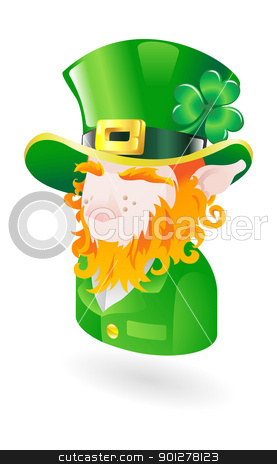 leprachaun illustration stock vector clipart, Illustration of a leprechaun by Christos Georghiou