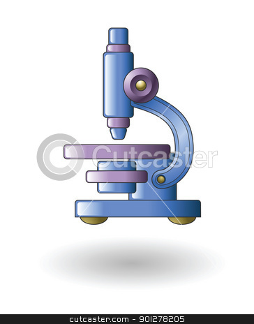 microscope Illustration stock vector clipart, Illustration of a microscope by Christos Georghiou