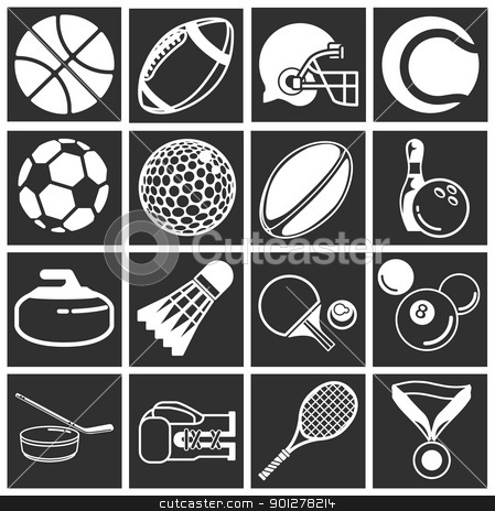 sports icon set stock vector clipart, series sport icons  by Christos Georghiou