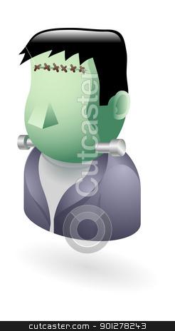 Frankenstein monster illustration stock vector clipart, Illustration of Frankenstein monster by Christos Georghiou