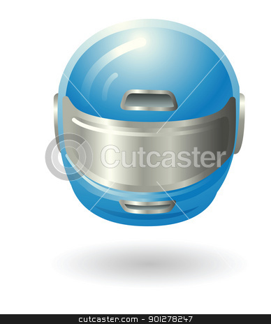 motorcycle helmet Illustration stock vector clipart, Illustration of a motorcycle helmet by Christos Georghiou