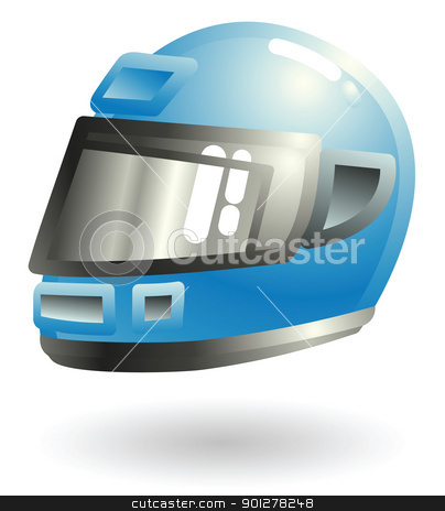 motorcycle helmet Illustration stock vector clipart, Illustration of a motorcycle helmet by Christos Georghiou