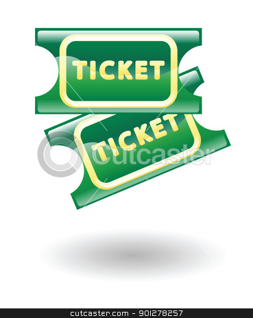 tickets illustration stock vector clipart, Illustration of movie tickets by Christos Georghiou