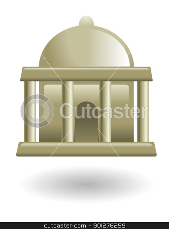 museum illustration stock vector clipart, Illustration of a museum by Christos Georghiou