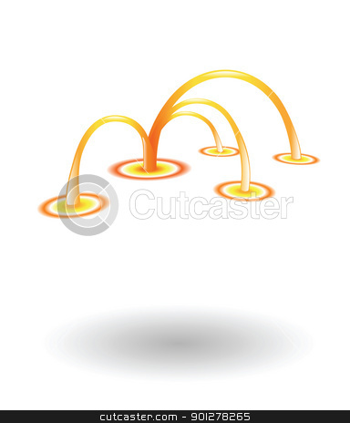 network Illustration stock vector clipart, Illustration of a network by Christos Georghiou