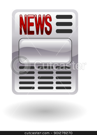 news  Illustration stock vector clipart, Illustration of a newspaper by Christos Georghiou