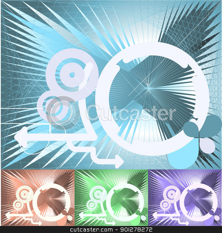 Abstract Conceptual background stock vector clipart, An illustration of an abstract conceptual technology background  by Christos Georghiou