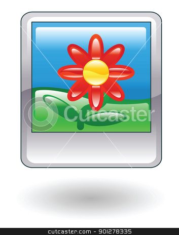 photo Illustration stock vector clipart, Illustration of a photo with a flower by Christos Georghiou