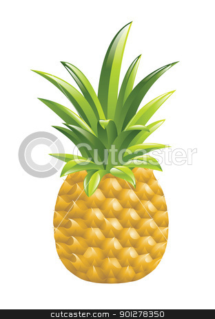 pineapple illustration stock vector clipart, Illustration of a pineapple by Christos Georghiou