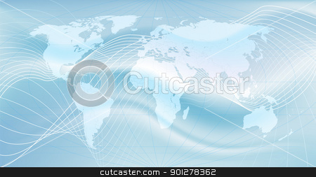 the global network stock vector clipart, Illustration of the world. An abstract representation of global communications  by Christos Georghiou