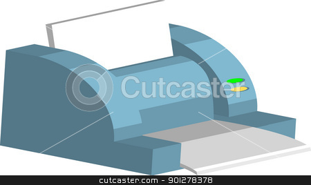 printer Illustration stock vector clipart, Illustration of a computer printer  by Christos Georghiou